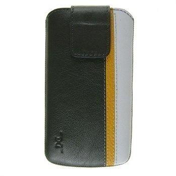 Samsung Galaxy S4 i9500 i9505 DC Trambolin Montone Nahkakotelo Harmaa / Keltainen / Valkoinen