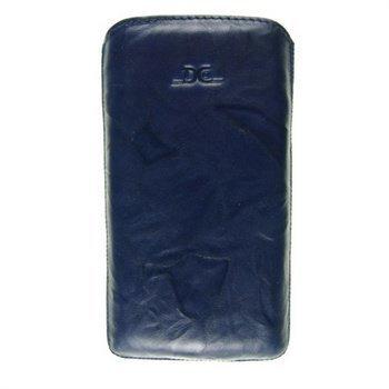 Samsung Galaxy S4 i9500 i9505 DC Washed SRC Slide Nahkakotelo Laivastonsininen