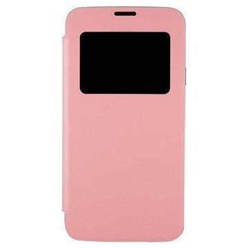 Samsung Galaxy S5 Anymode Nahkainen Läppäkotelo Pinkki