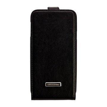 Samsung Galaxy S5 Commander Premium DeLuxe Läpällinen Nahkakotelo Musta