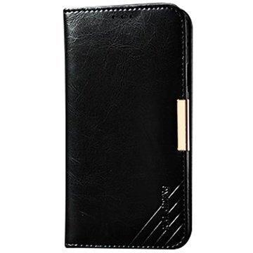 Samsung Galaxy S5 Kalaideng Royale II Nahkainen Lompakkokotelo Musta