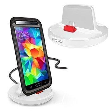 Samsung Galaxy S5 KiDiGi Pöytälaturi Valkoinen