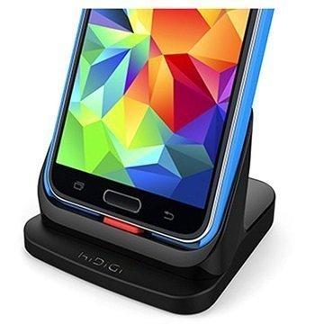 Samsung Galaxy S5 KiDiGi Ultraohut HDMI Pöytälaturi Musta