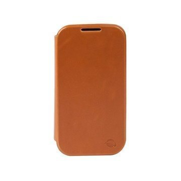 Samsung Galaxy S5 Krusell Kiruna Leather Flip Case Camel