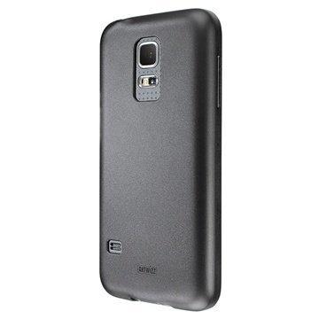 Samsung Galaxy S5 Mini Artwizz SeeJacket TPU Suojakuori Musta