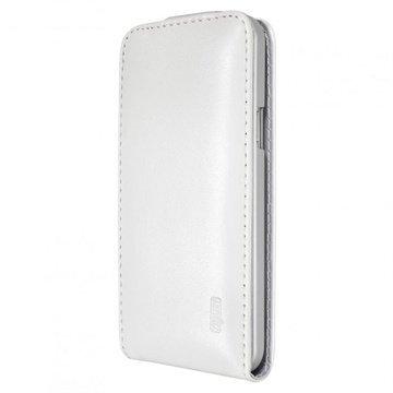 Samsung Galaxy S5 Mini Artwizz SeeJacket Vertical Nahkainen Läppäkotelo Valkoinen