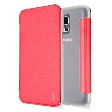 Samsung Galaxy S5 Mini Artwizz SmartJacket Läppäkotelo Pinkki