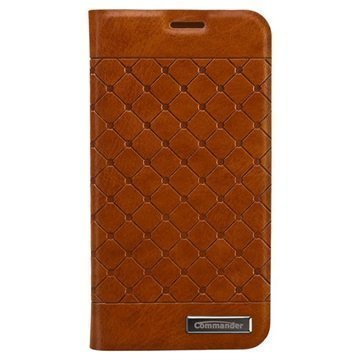 Samsung Galaxy S5 Mini Commander Square Book Nahkakotelo Ruskea