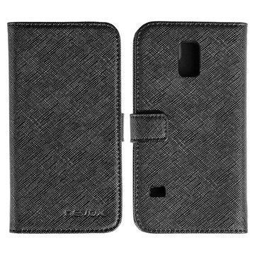 Samsung Galaxy S5 Mini Nevox Ordo Folio Kotelo Musta / Harmaa