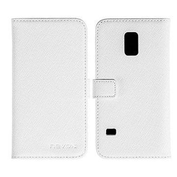 Samsung Galaxy S5 Mini Nevox Ordo Folio Kotelo Valkoinen / Harmaa