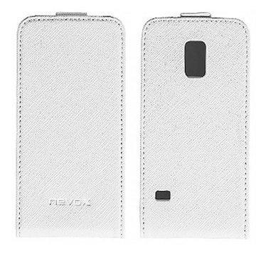 Samsung Galaxy S5 Mini Nevox Relino Läppäkotelo Valkoinen / Harmaa