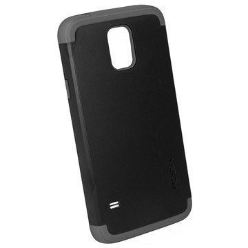 Samsung Galaxy S5 Rock Shield Suojakuori Musta