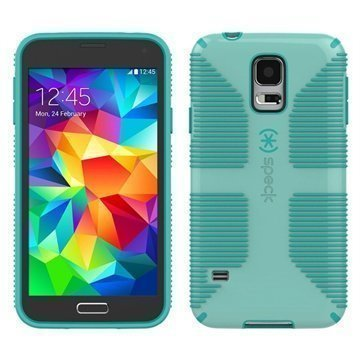 Samsung Galaxy S5 Speck CandyShell Grip Cover Aloe Green / Blue