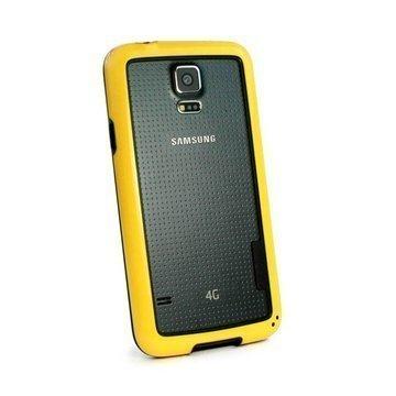 Samsung Galaxy S5 Tuff-Luv Dual Colour Bumper TPU-Kotelo Keltainen