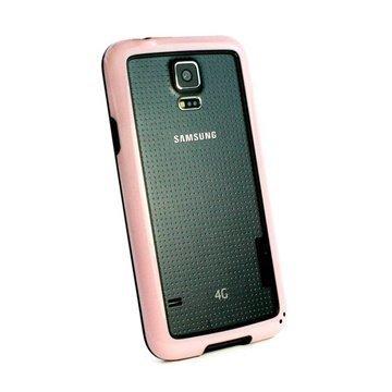 Samsung Galaxy S5 Tuff-Luv Dual Colour Bumper TPU-Kotelo Pinkki