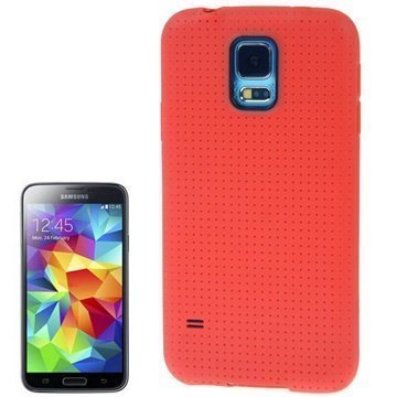 Samsung Galaxy S5 Tuff-Luv Trim TPU-Kotelo Punainen