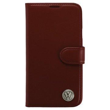 Samsung Galaxy S5 Volkswagen Book Nahkakotelo Salsa Punainen