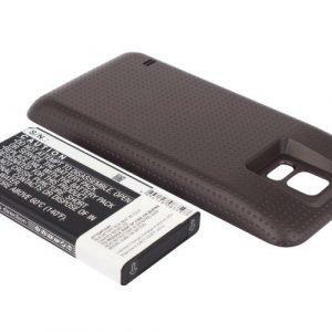 Samsung Galaxy S5 tehoakku 5600 mAh Erillisellä ruskealla takakannella