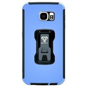 Samsung Galaxy S6 Armor-X TX-SS-S6 Rugged X-Mount Suojakuori Sininen