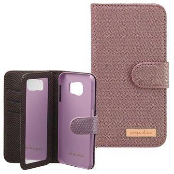 Samsung Galaxy S6 Carpe Diem Mirror Lompakkokotelo Violetti