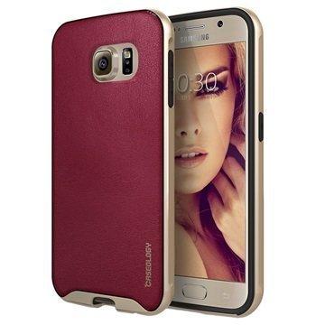 Samsung Galaxy S6 Caseology Envoy Kotelo Burgundinpunainen / Kulta