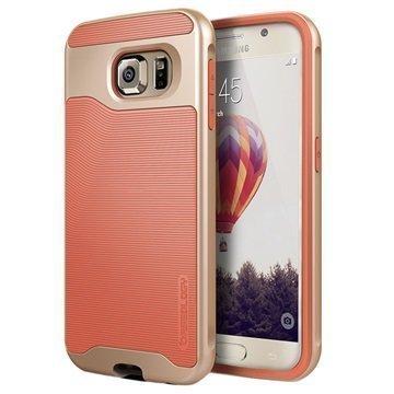 Samsung Galaxy S6 Caseology Wavelength Suojakuori Korallinpunainen / Kulta