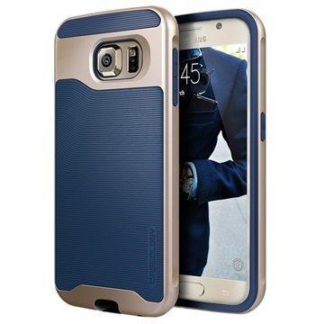 Samsung Galaxy S6 Caseology Wavelength Suojakuori Laivastonsininen / Kulta
