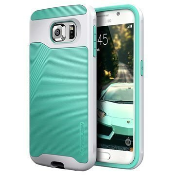 Samsung Galaxy S6 Caseology Wavelength Suojakuori Turkoosi / Hopea