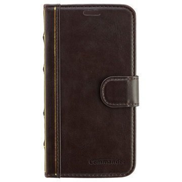 Samsung Galaxy S6 Commander Book Elite Antique Läpällinen Nahkakotelo Ruskea