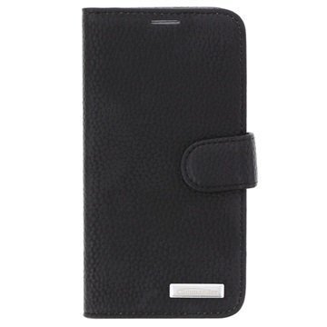 Samsung Galaxy S6 Commander Book Elite Wallet Nahkakotelo Musta
