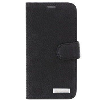Samsung Galaxy S6 Commander Book Elite Wallet Nahkakotelo Musta