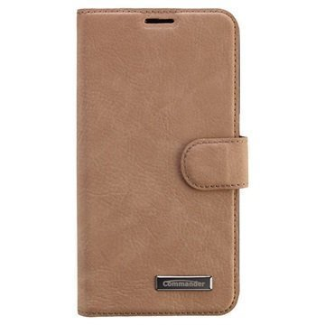 Samsung Galaxy S6 Commander Book Elite Wallet Nahkakotelo Ruskea Nupukki