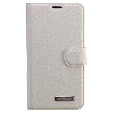 Samsung Galaxy S6 Commander Book Elite Wallet Nahkakotelo Valkoinen