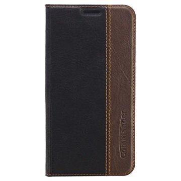 Samsung Galaxy S6 Commander Book Läpällinen Nahkakotelo Musta