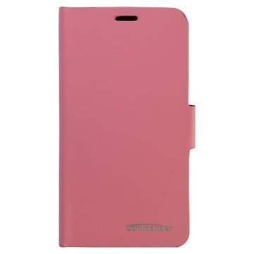 Samsung Galaxy S6 Commander Smart Book Lomapakkokotelo Vaaleanpunainen