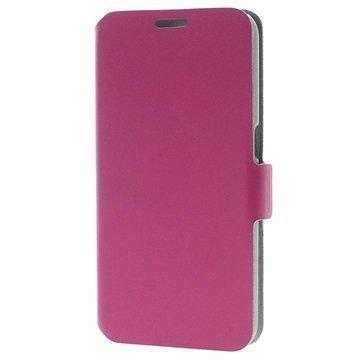 Samsung Galaxy S6 Doormoon Nahkainen Lompakkokotelo Kuuma Pinkki