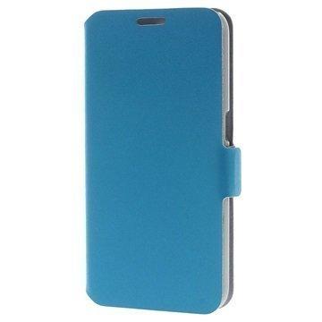 Samsung Galaxy S6 Doormoon Nahkainen Lompakkokotelo Sininen