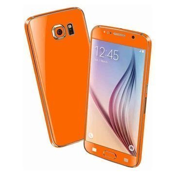 Samsung Galaxy S6 EasySkinz Matt Skin Oranssi