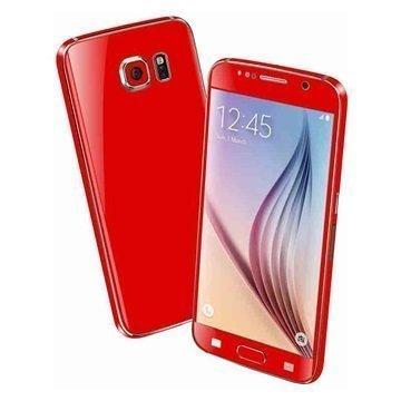 Samsung Galaxy S6 EasySkinz Matt Skin Punainen