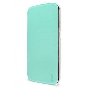 Samsung Galaxy S6 Edge Artwizz SmartJacket Läppäkotelo Mintunvihreä