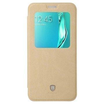 Samsung Galaxy S6 Edge+ Baseus Terse Series Avattava Kotelo Khaki
