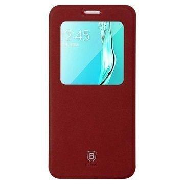 Samsung Galaxy S6 Edge+ Baseus Terse Series Avattava Kotelo Punainen