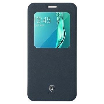 Samsung Galaxy S6 Edge+ Baseus Terse Series Avattava Kotelo Sininen
