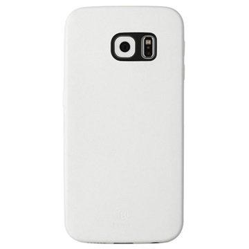 Samsung Galaxy S6 Edge Baseus Thin Case Sarjan Kova Kotelo Valkoinen