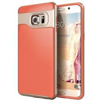 Samsung Galaxy S6 Edge+ Caseology Wavelength Suojakuori Korallinpunainen / Kulta