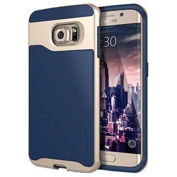 Samsung Galaxy S6 Edge Caseology Wavelength Suojakuori Laivastonsininen / Kulta