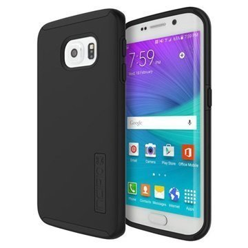 Samsung Galaxy S6 Edge Incipio DualPro Kotelo Musta