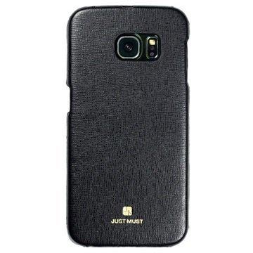 Samsung Galaxy S6 Edge Just Must SU Kovakotelo Musta