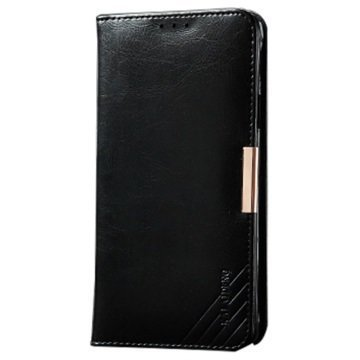 Samsung Galaxy S6 Edge Kalaideng Royale II Nahkainen Lompakkokotelo Musta