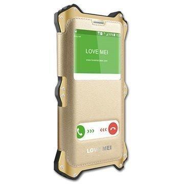 Samsung Galaxy S6 Edge+ Love Mei MK2-Sarja Hybridikotelo Samppanja Kulta